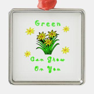 El verde crece en usted ornaments para arbol de navidad