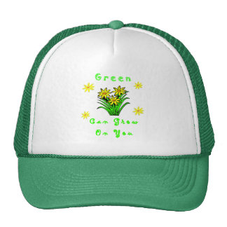 El verde crece en usted gorras de camionero