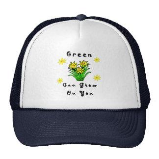 El verde crece en usted gorra