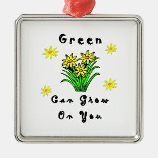 El verde crece en usted ornamente de reyes