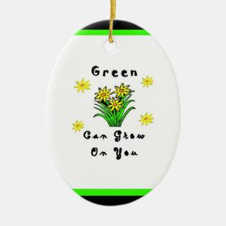 El verde crece en usted ornamento de reyes magos