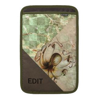 El verde de bronce del pulpo envejeció la mirada funda para macbook air