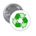 El verde de dos tonos en blanco recicla el botón pins