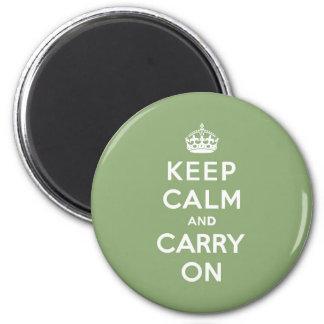 El verde de Eco guarda calma y continúa Imán Redondo 5 Cm