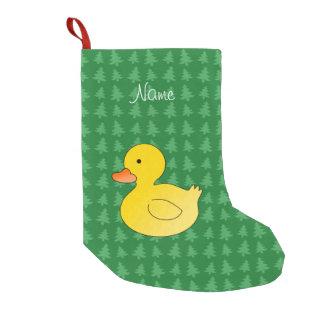 El verde de goma conocido de encargo del pato bota navideña pequeña