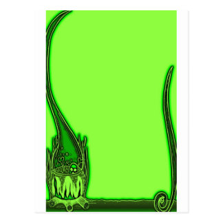 El verde de HALLOWEEN invita Postal