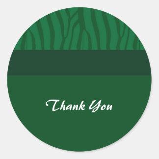 El verde de hierba le agradece pegatina redonda