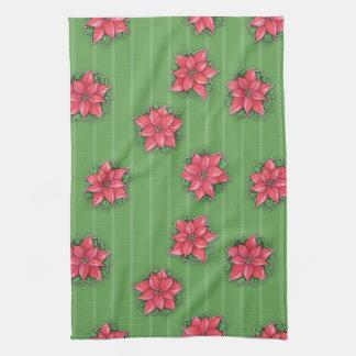 El verde de la alegría del Poinsettia raya la toal