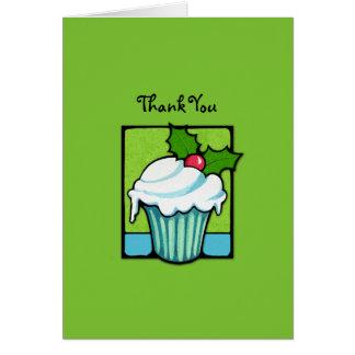 El verde de la magdalena del acebo del navidad le tarjeta pequeña