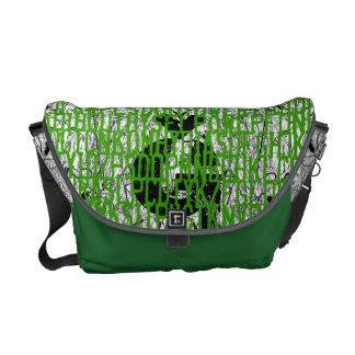 El verde de neón añade el bolso del código conocid bolsas messenger