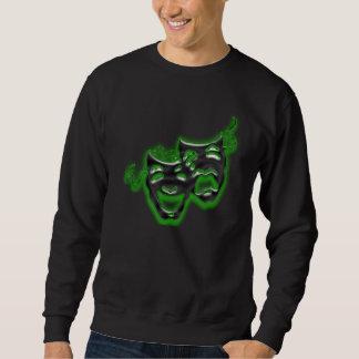 El verde de neón grande enmascara la camiseta suéter