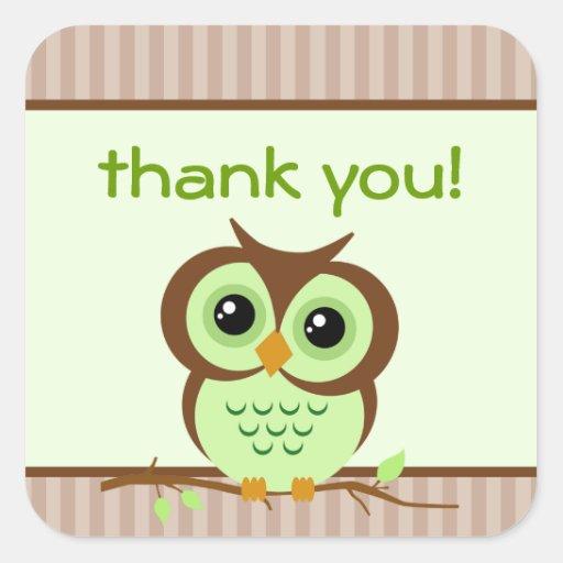 El verde de Owly le agradece pegatina