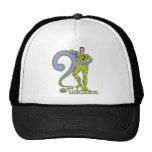 El verde de Riddler y del logotipo Gorras