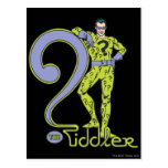 El verde de Riddler y del logotipo Tarjetas Postales