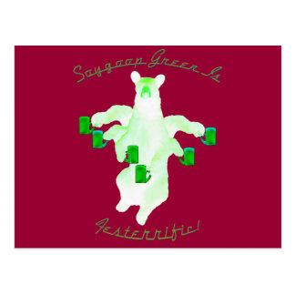 ¡El verde de Soygoop es Festerrific Tarjeta Postal