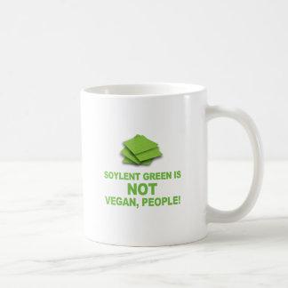 ¡El verde de Soylent no es vegano, gente! Taza Clásica