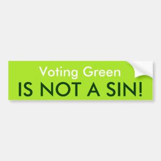El verde de votación no es un pecado etiqueta de parachoque