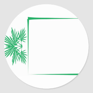 El verde deja a frontera moderna simplista pegatina redonda