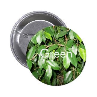 El verde deja el botón pin redondo de 2 pulgadas