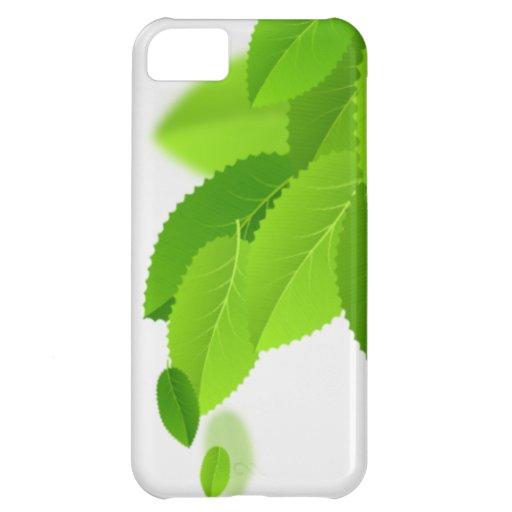 El verde deja el caso del iphone 5 funda para iPhone 5C