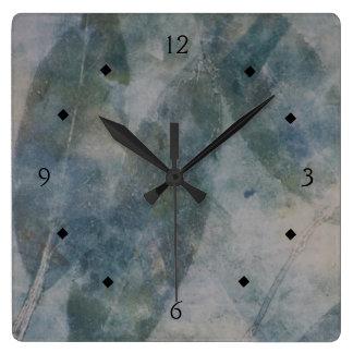 El verde deja el extracto reloj cuadrado