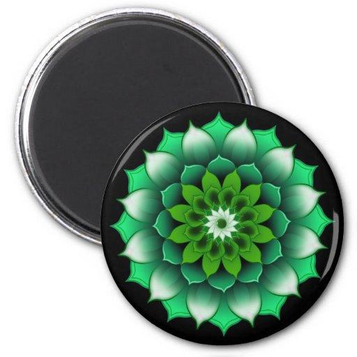El verde deja el imán de la mandala