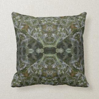 El verde deja la almohada de tiro del extracto del cojín decorativo