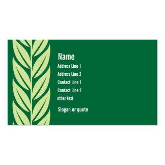 El verde deja la tarjeta de visita