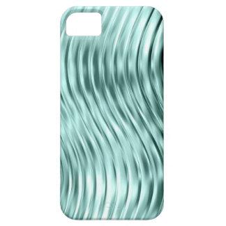 El verde del hielo curvó la casamata de cristal de iPhone 5 cárcasa