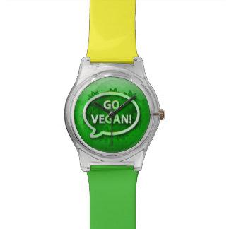 El verde del icono del reloj VA VEGANO