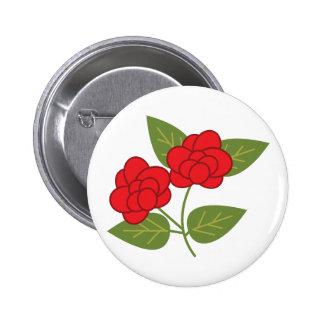 El verde del rosa rojo deja el botón lindo pin redondo de 2 pulgadas