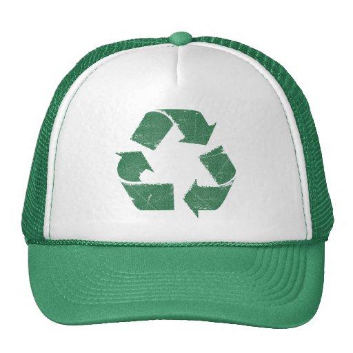 El verde del vintage recicla la muestra gorras de camionero