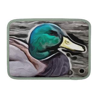 el verde dirigió la pintura del pato funda  MacBook