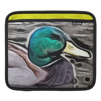 el verde dirigió la pintura del pato funda para iPads