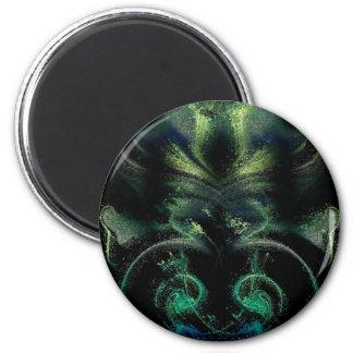 el verde disuelve imán redondo 5 cm