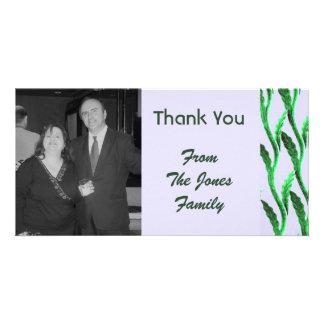 el verde elegante le agradece tarjetas fotográficas personalizadas