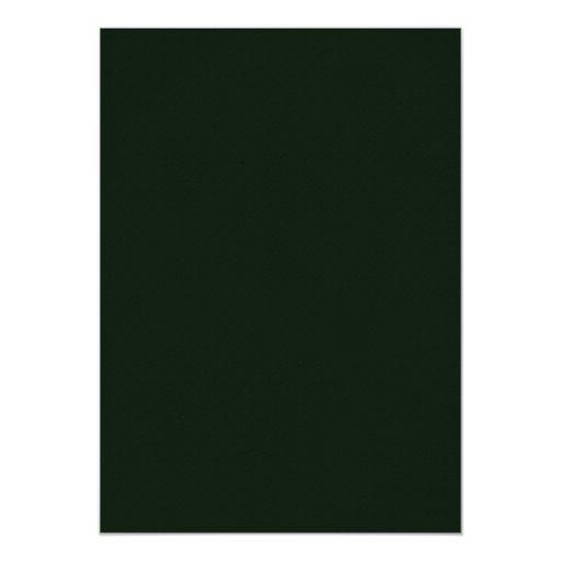 El verde embotado atractivo florece con los invitación 12,7 x 17,8 cm