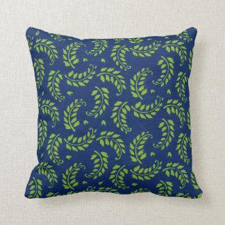 El verde en azul deja la almohada de tiro de las f