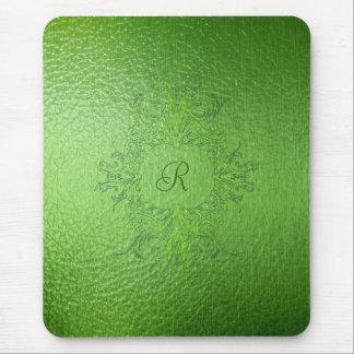 El verde entona el cojín de ratón del vitral alfombrilla de ratones