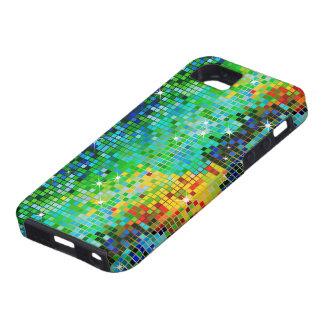 El verde entona el modelo abstracto de Bling Bling iPhone 5 Case-Mate Carcasas