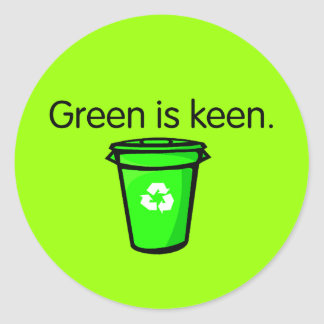 El verde es afilado pegatinas redondas