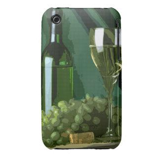 El verde es blanco funda para iPhone 3 de Case-Mate
