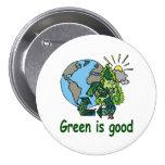 El verde es buen botón pins