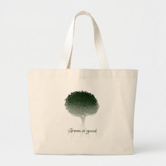El verde es buen tote bolsa lienzo