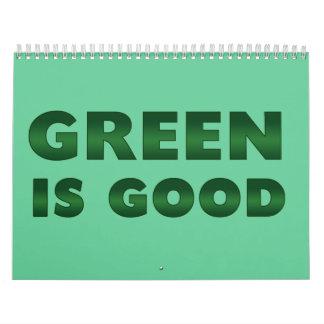 El verde es bueno calendario