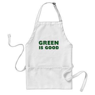 El verde es bueno delantal