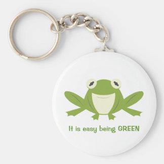 El verde es bueno llaveros personalizados