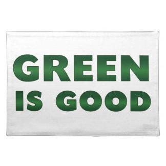 El verde es bueno mantel