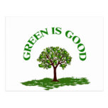 El verde es bueno tarjeta postal