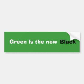 El verde es el nuevo bumpersticker negro pegatina para auto